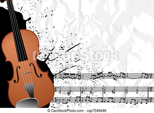 Music illustration - csp7546446