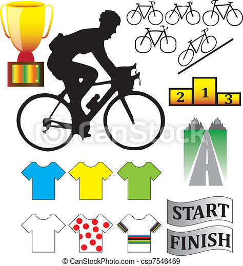 Cycle racing bikes, shirts and othe - csp7546469