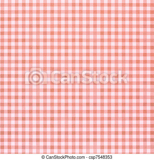 Red checkered rural tablecloth background - csp7548353
