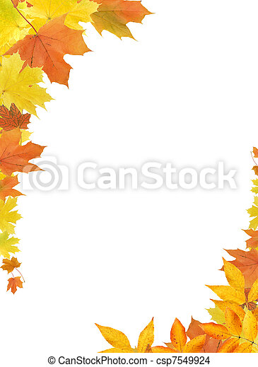 Fall Leaves Border - csp7549924
