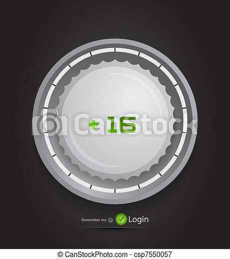 Vector login page with tune button - csp7550057