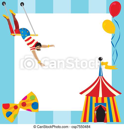 Vetor c te circo themed partido convite estoque de for Sala de estar 3x5