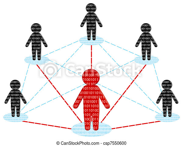 Network communication. Business Team concept. vector illustration - csp7550600