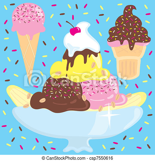 Ice cream Sundae Party - csp7550616