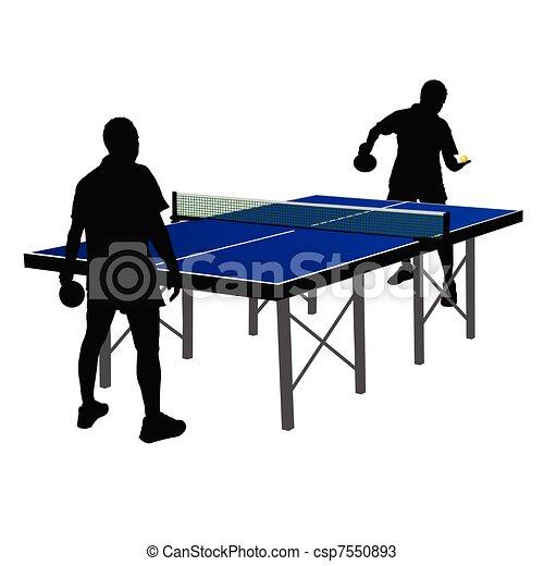 Vectores de tabla hombres juego dos tenis dos - Friendship tennis de table ...