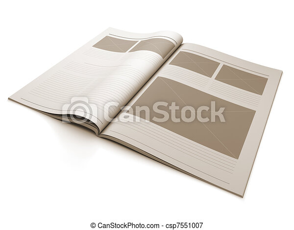 Magazine blank page for design layout - csp7551007