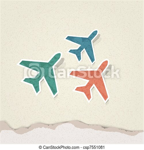 Vector airplane - csp7551081