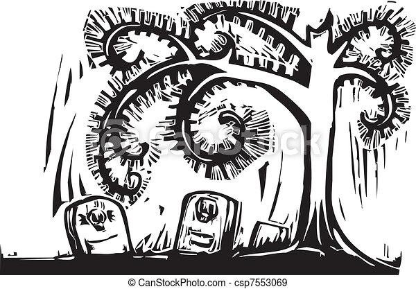 Spiral Tree Grave - csp7553069