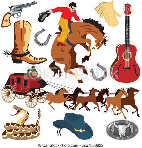 Wild West Clipart icons - csp7553932