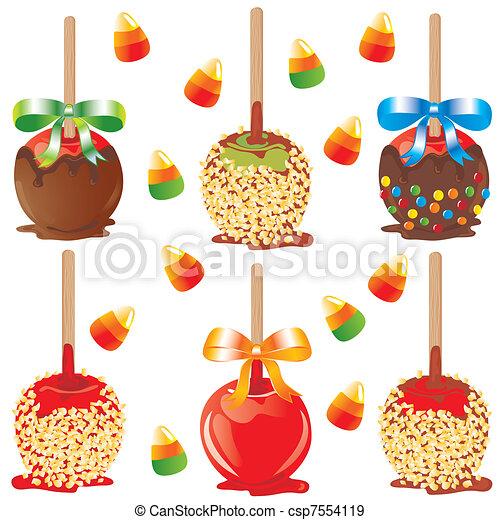 Candy apple treats - csp7554119