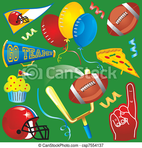 Fun football elements and icons - csp7554137