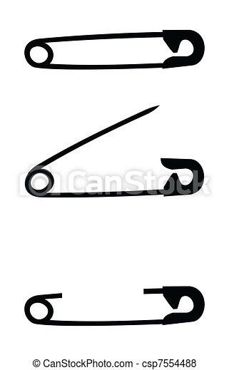 Safety pin isolated - csp7554488