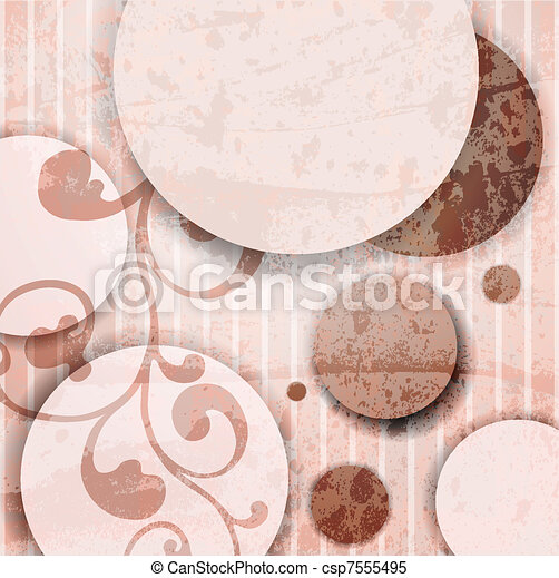 Abstract illustration with circles. - csp7555495