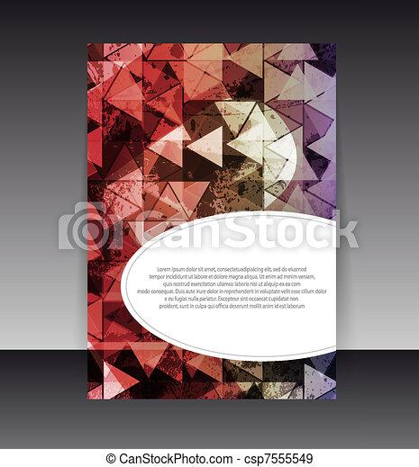 Flyer or cover design. Folder design content background. editable vector illustration - csp7555549