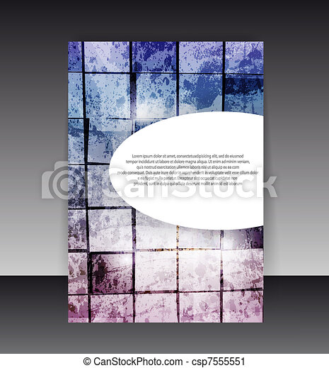 Flyer or Cover Design. Folder design content background. editable vector illustration - csp7555551
