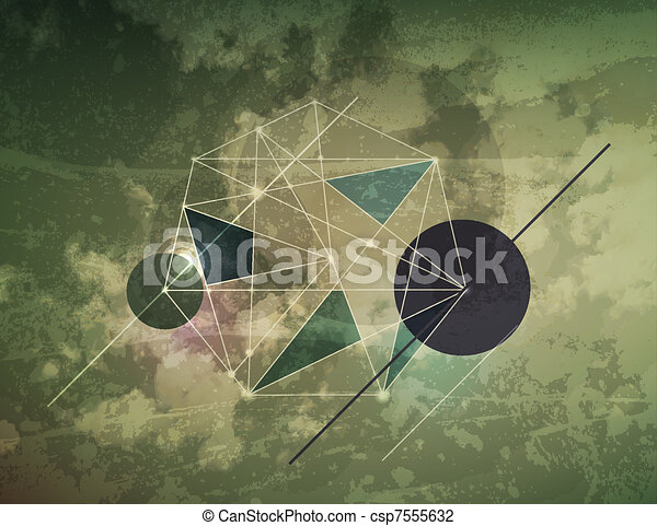 Abstract dark shape design concept. Vector illustration - csp7555632