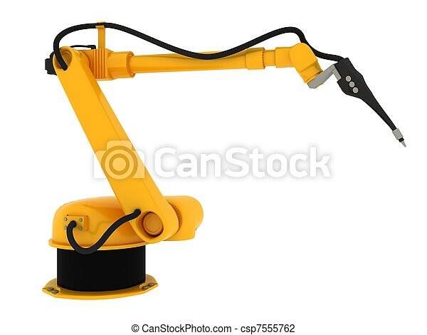 Industrial Robot Isolated On White - csp7555762