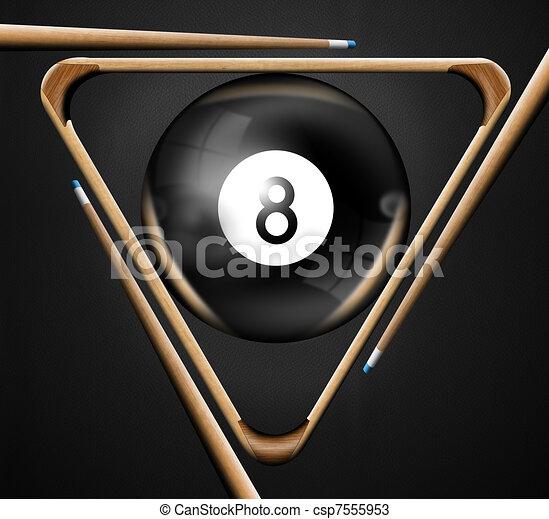 8, billar, piscina, juegos - csp7555953