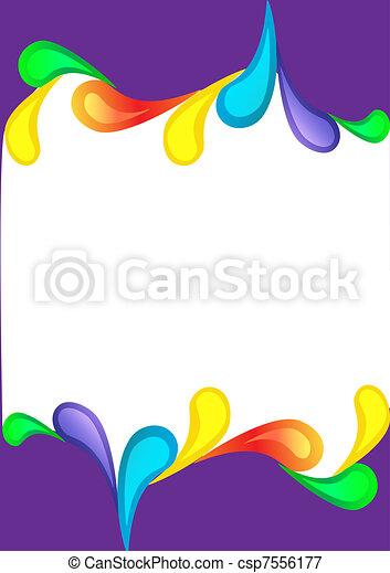 violet vertical background with color drop - csp7556177