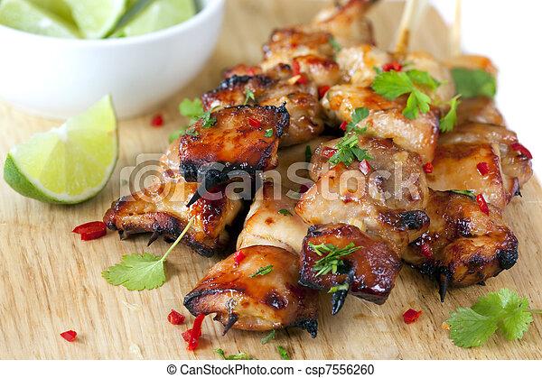Thai Chicken Skewers - csp7556260