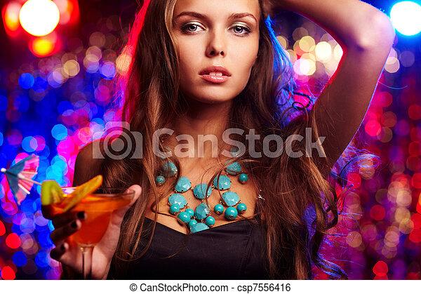 Glamorous girl  - csp7556416