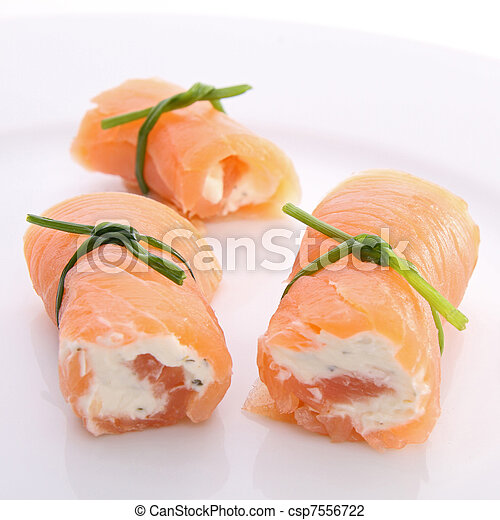 salmon roll and cheese - csp7556722