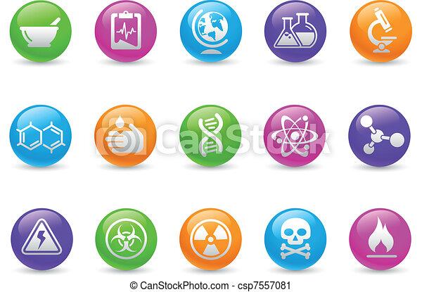 Science Icons / Rainbow - csp7557081