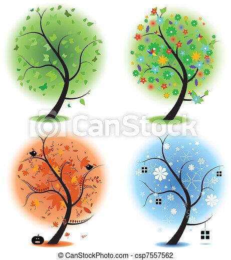 Four seasons - spring, summer, autu - csp7557562