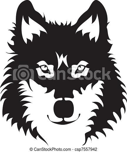 Wolf Face - csp7557942