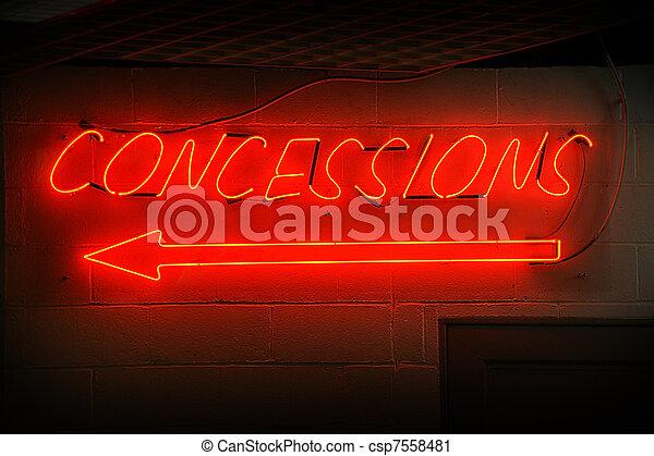 Concessions Neon Sign - csp7558481