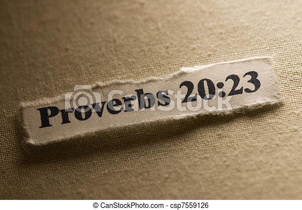 Proverbs 20:23 - csp7559126