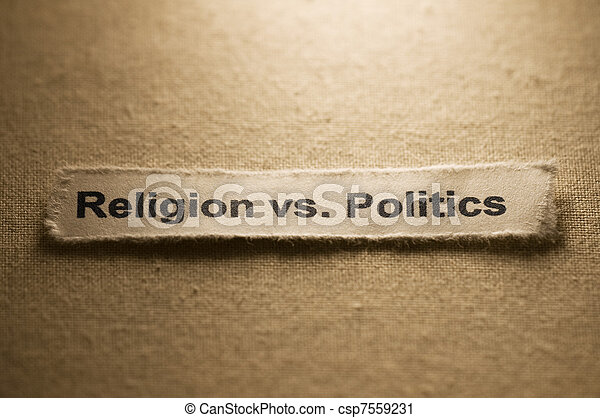 Religion vs politics - csp7559231