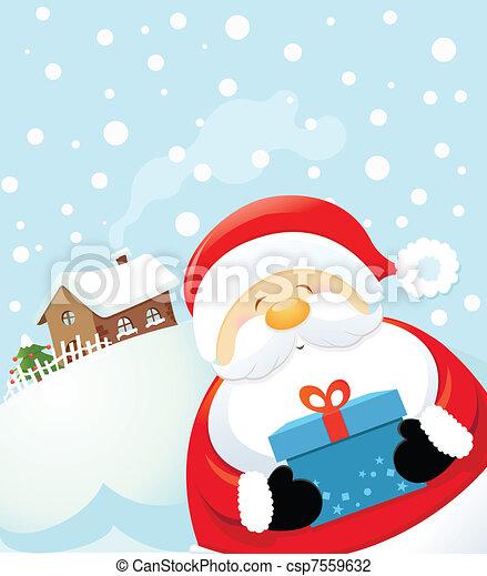 Santa's Surprise - csp7559632
