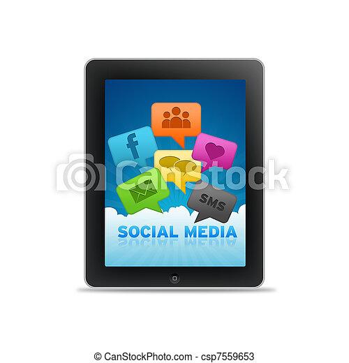 Social Media Tablet PC - csp7559653