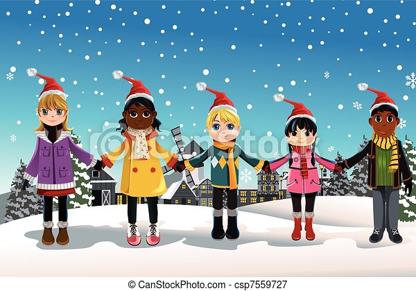 Christmas children - csp7559727