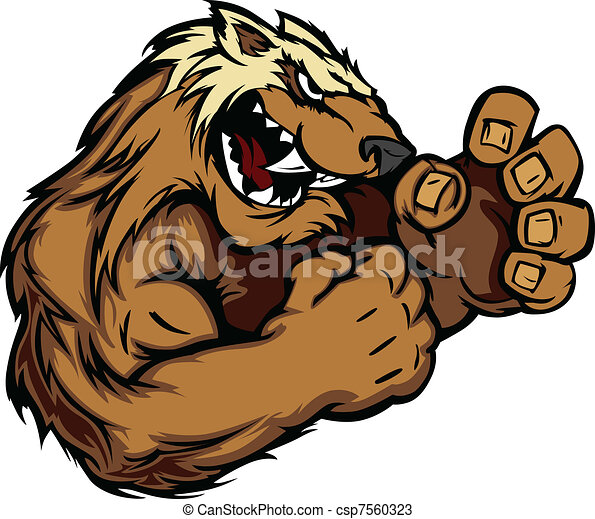 Graphic Vector Image of a Wolverine - csp7560323