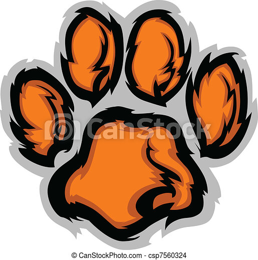 Tiger Paw Mascot Vector Illustratio - csp7560324