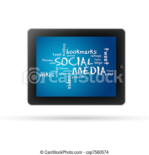 Social Media Tablet PC - csp7560574