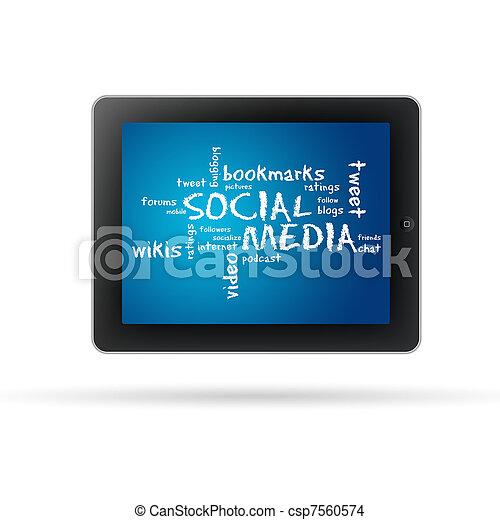 Social Media Tablet PC - csp7560574