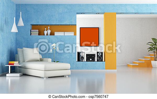 modern living room - csp7560747