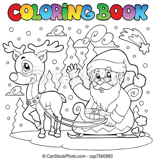 Coloring book Santa Claus theme 4 - csp7560983