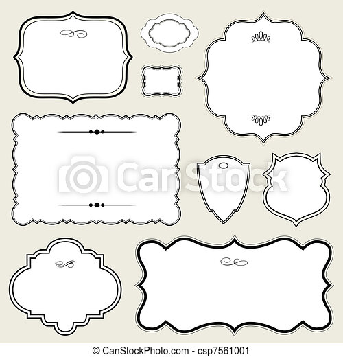 Vector Ornate Rounded Frame Set - csp7561001