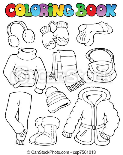 Coloring book winter apparel 1 - csp7561013