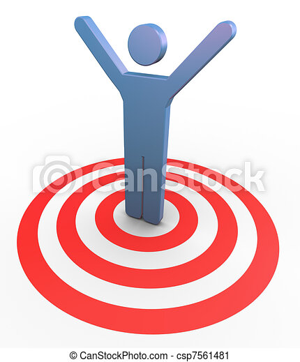 3d man succeed to the target - csp7561481