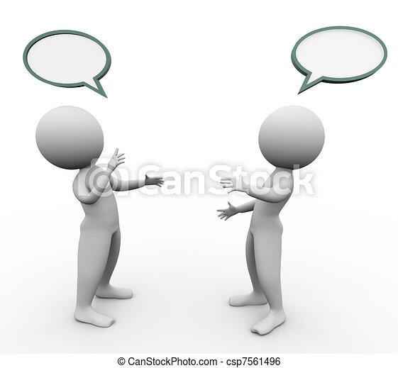 3d men speech bubble - csp7561496
