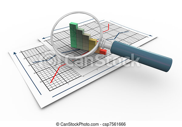 3d magnifier and progress bars - csp7561666