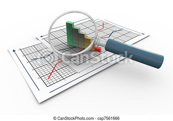 3d magnifier and progress bars - csp7561666