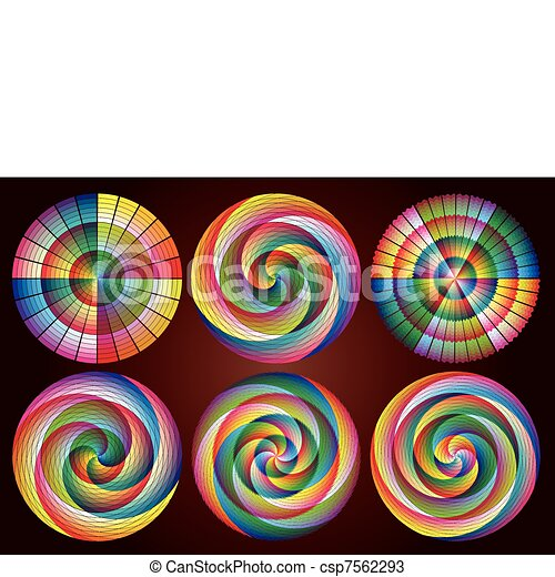 Multicolored Rainbow Circles - csp7562293