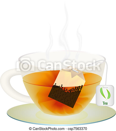 A cup of tea for your design. Vector illustration - csp7563370