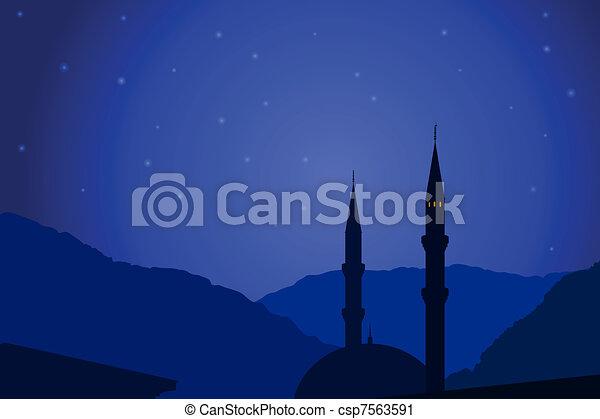 Vector illustration of Arabic night - csp7563591